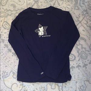 American Girl Coconut Dog Long Sleeve Shirt Sz 10